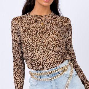 Princess Polly Estar Top Leopard!!